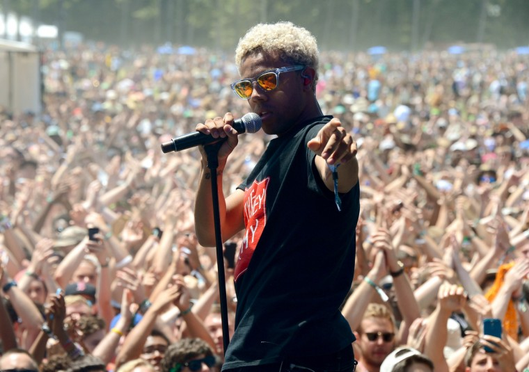 Vic Mensa performs onstage during day 2 of the Firefly Music Festival on June 20, 2014 in Dover, Delaware. (Theo Wargo/Getty Images)