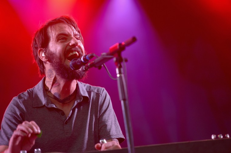Ben Bridwell of Band of Horses performs onstage during day 2 of the Firefly Music Festival on June 20, 2014 in Dover, Delaware. (Michael Loccisano/Getty Images)