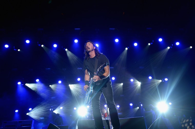 Dave Grohl of the Foo Fighters performs onstage during day 2 of the Firefly Music Festival on June 20, 2014 in Dover, Delaware. (Photo by Michael Loccisano/Getty Images for Firefly Music Festival)