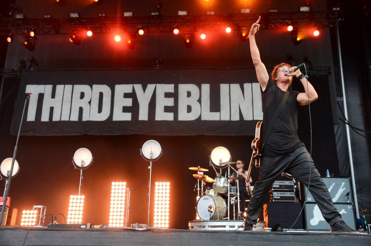 Stephan Jenkins of Third Eye Blind performs onstage during day 3 of the Firefly Music Festival on June 21, 2014 in Dover, Delaware. (Theo Wargo/Getty Images)