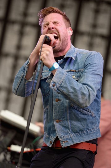 Ricky Wilson of Kaiser Chiefs performs onstage during day 3 of the Firefly Music Festival on June 21, 2014 in Dover, Delaware. (Michael Loccisano/Getty Images)