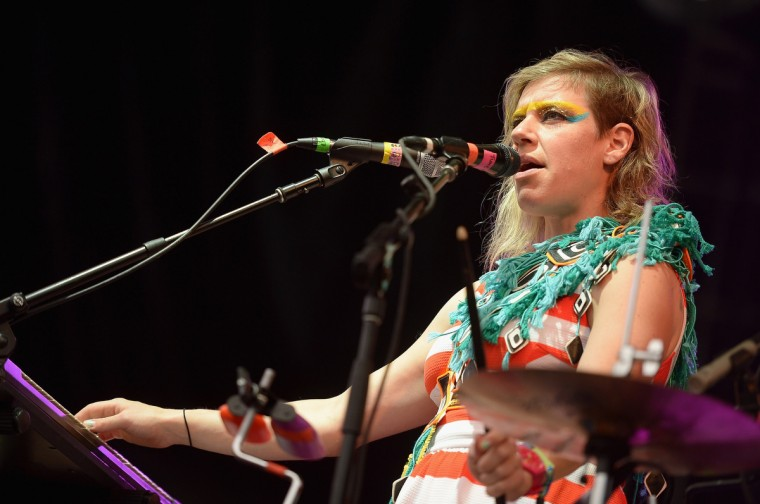 Merrill Garbus of Tune-Yards performs onstage during day 3 of the Firefly Music Festival on June 21, 2014 in Dover, Delaware. (Michael Loccisano/Getty Images)