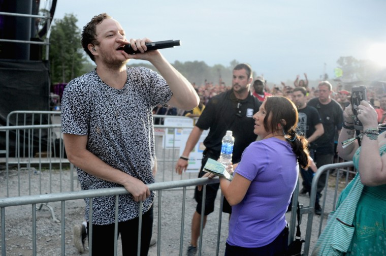 Dan Reynolds of Imagine Dragons performs onstage during day 3 of the Firefly Music Festival on June 21, 2014 in Dover, Delaware. (Theo Wargo/Getty Images)