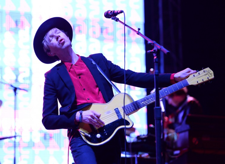 Beck performs onstage during day 3 of the Firefly Music Festival on June 21, 2014 in Dover, Delaware. (Theo Wargo/Getty Images)