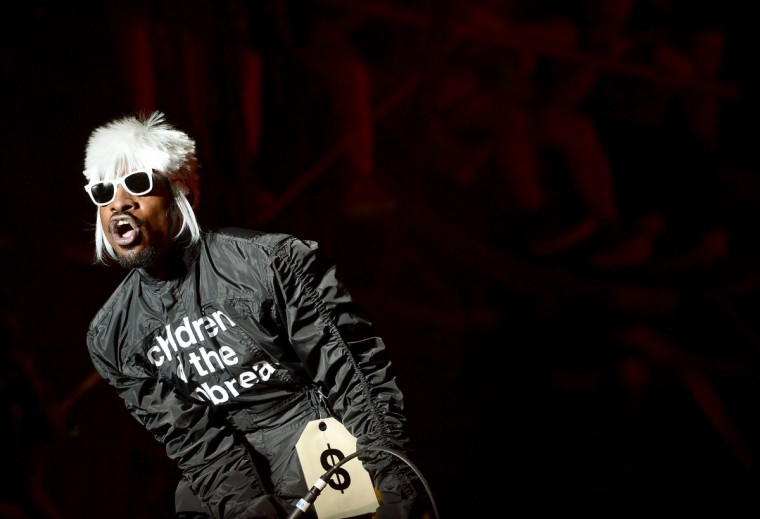 Andre 3000 of Outkast performs onstage during day 3 of the Firefly Music Festival on June 21, 2014 in Dover, Delaware. (Michael Loccisano/Getty Images)