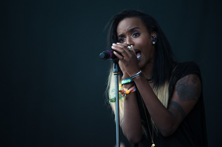 Angel Haze performs on the pyramid Stage during Day 2 of the Glastonbury Festival at Worthy Farm on June 28, 2014 in Glastonbury, England. (Ian Gavan/Getty Images)