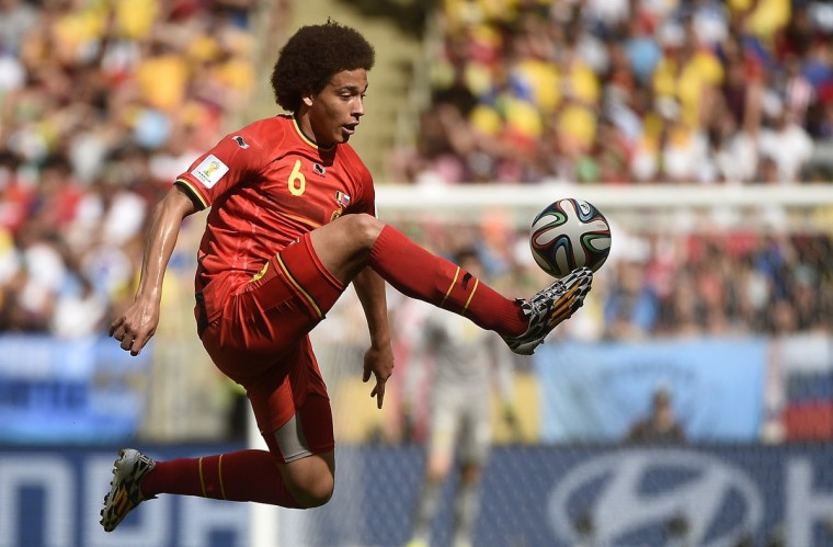 Belgium's midfielder Axel Witsel controls the ball during a Group H football match between Belgium and Russia at the Maracana Stadium in Rio de Janeiro during the 2014 FIFA World Cup on June 22, 2014. (Martin Bureau/Getty Images)