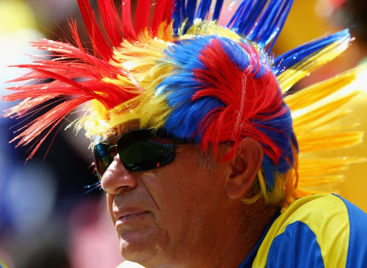 An Ecuador fan looks on prior to the 2014 FIFA World Cup Brazil Group E match between Switzerland and Ecuador at Estadio Nacional on June 15, 2014 in Brasilia, Brazil. (Clive Brunskill/Getty Images)