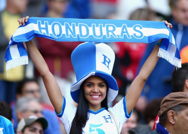 A Honduras fan looks on during the 2014 FIFA World Cup Brazil Group E match between France and Honduras at Estadio Beira-Rio on June 15, 2014 in Porto Alegre, Brazil. (Ian Walton/Getty Images)