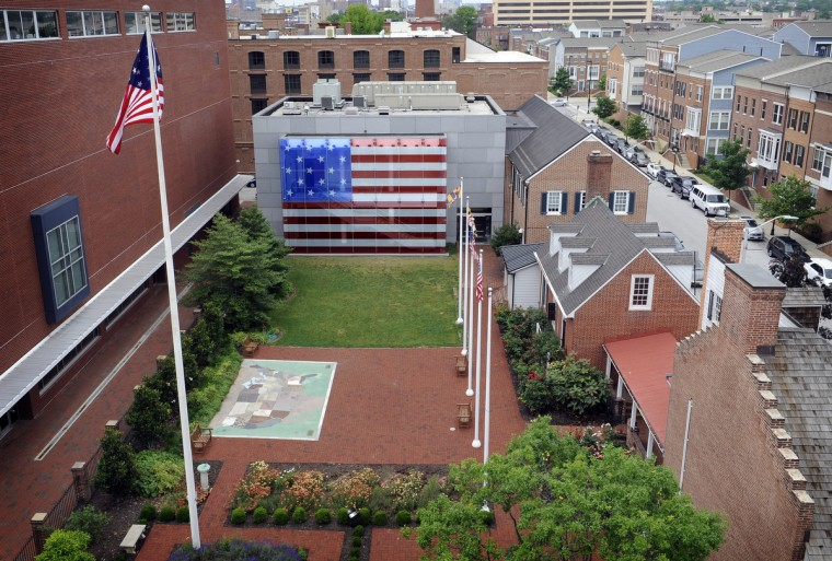 This is an overall view of the Flag House and Star-Spangled Banner Museum, where Mary Pickersgill sewed the flag that flew over Fort McHenry and inspired the national anthem. (Barbara Haddock Taylor/Baltimore Sun)