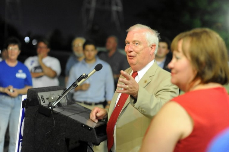 David Craig thanks his supporters after conceding the Republican nomination for governor to Larry Hogan at his campaign headquarters in Rosedale on Tuesday, June 24. (Brian Krista/BSMG)