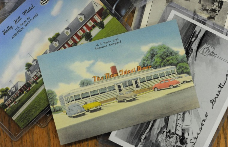 "Postcards from U.S. Route 40 in Aberdeen. Mary Martin runs a longtime family business along Route 40 in Perryville and Havre de Grace that she bills as the ""world's largest postcard shop."" (Lloyd Fox/Sun Photographer)"