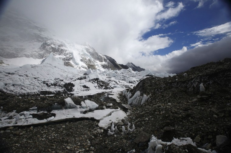 Everest base camp is seen approximately 5,300 meters above sea level in the Solukhumbu District on May 6, 2014. (REUTERS/Navesh Chitrakar)