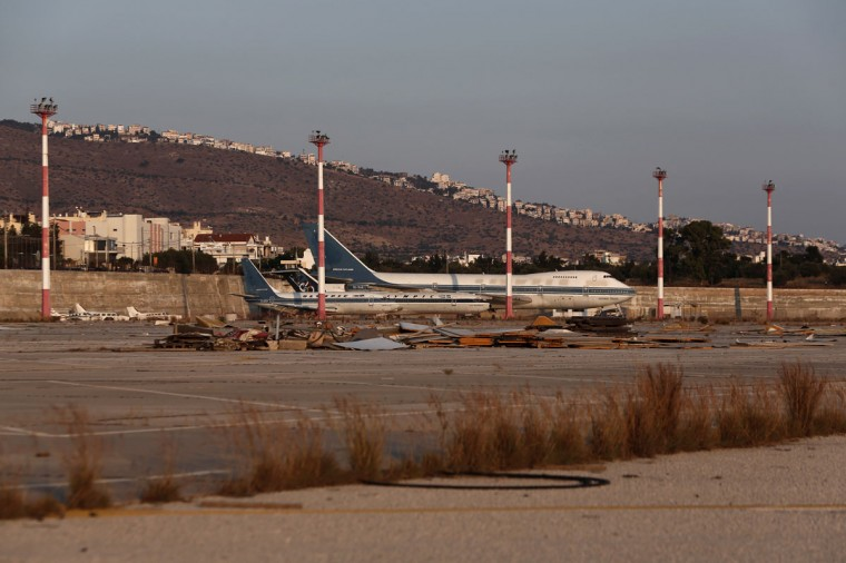 Olympic Airways airplanes stand on the premises of the former Athens International airport, Hellenikon. (REUTERS/Yorgos Karahalis)
