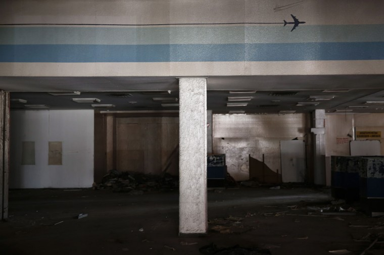 A hall is seen in the west terminal of the former Athens International airport, Hellenikon on June 16, 2014. (REUTERS/Yorgos Karahalis)
