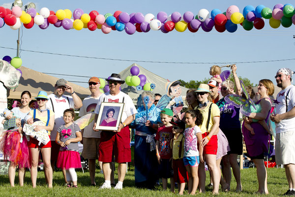 A team poses for a photo during the Laurel Relay for Life on Saturday, June 7. (Jen Rynda, Baltimore Sun Media Group)