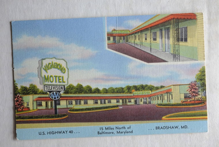 Postcard of the Vagabond Motel in Bradshaw. (Lloyd Fox/Sun Photographer)