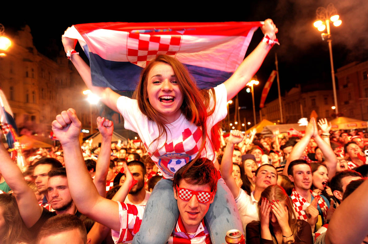 Fifa World Cup Brazil 2014: Which teams have hottest fans ... |Croatia Soccer Fans