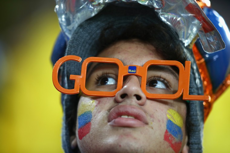 An Ecuador waits for the start of the 2014 FIFA World Cup Brazil Group E match between Honduras and Ecuador at Arena da Baixada in Curitiba, Brazil. (Julian Finney/Getty Images)