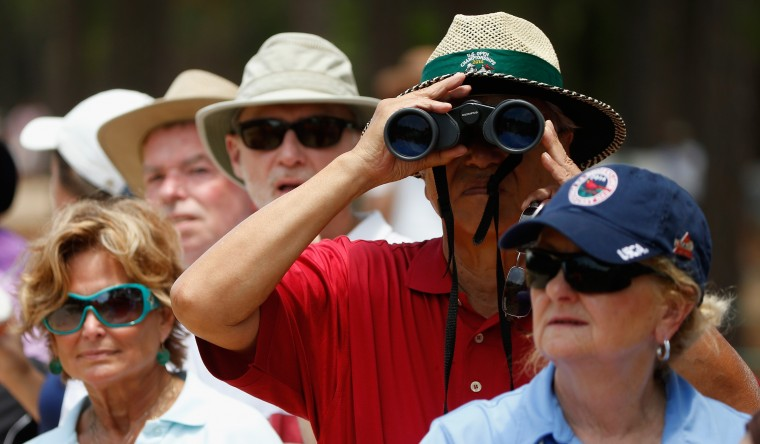 Fans watch play from the gallery during the third round of the 69th U.S. Women's Open at Pinehurst Resort & Country Club, Course No. 2 in Pinehurst, N.C. (Scott Halleran/Getty Images)