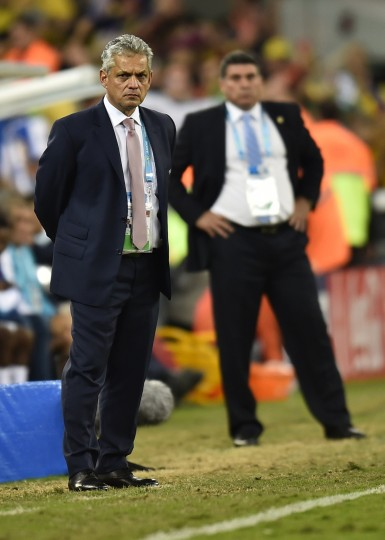 Ecuador's Colombian coach Reinaldo Rueda looks on during a Group E football match between Honduras and Ecuador at the Baixada Arena in Curitiba during the 2014 FIFA World Cup. (Rodrigo Buendia/AFP-Getty Images)