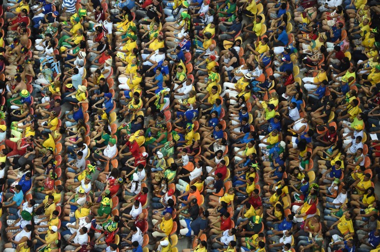 A general view as the crowd watches the action during the 2014 FIFA World Cup Brazil Group D match between England and Italy at Arena Amazonia in Manaus, Brazil.  (Francois Xavier Marit/Pool/Getty Images)
