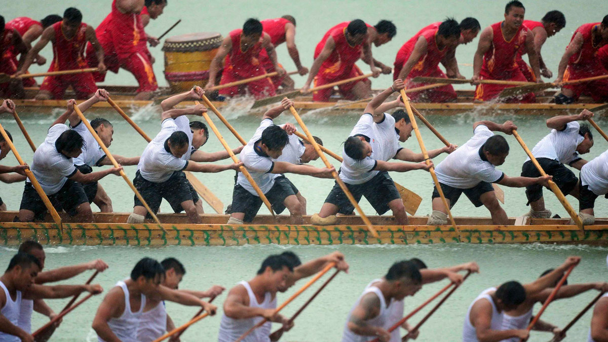 "The Dragon Boat Festival, a lounging black bear, a ""Dinner in the Sky"" 