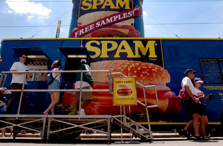 The Spam Mobile made an appearence at the annual HonFest along 36th Street in Hampden Saturday afternoon. (Sun photo, 2004)