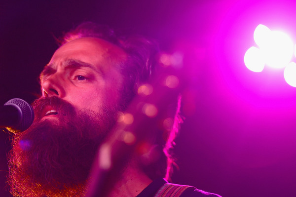 Samuel Beam of Iron & Wine performs onstage during day 2 of the Firefly Music Festival on June 20, 2014 in Dover, Delaware. (Michael Loccisano/Getty Images)