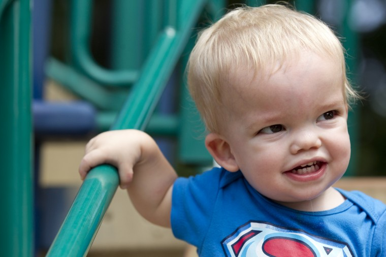 Connor Berry, 22 months, of Lansdowne plays at Hillcrest Park in Lansdowne, MD on Thursday, July 3, 2014. (Jen Rynda/BSMG)