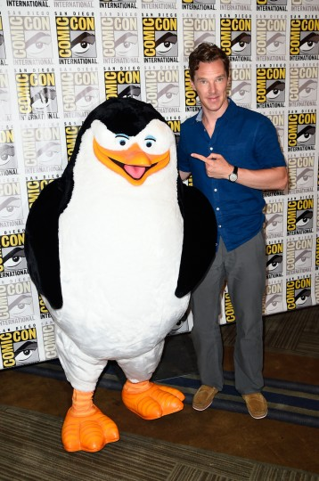 Actor Benedict Cumberbatch attends DreamWorks Animation Press Line during Comic-Con International 2014 at Hilton Bayfront on July 24, 2014 in San Diego, California. (Frazer Harrison/Getty Images)