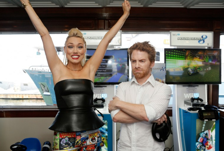 Actors Clare Grant (L) and Seth Green attend the Nintendo Lounge on the TV Guide Magazine Yacht during Comic-Con International 2014 #TVGMYacht on July 24, 2014 in San Diego, California. (Mike Windle/Getty Images )