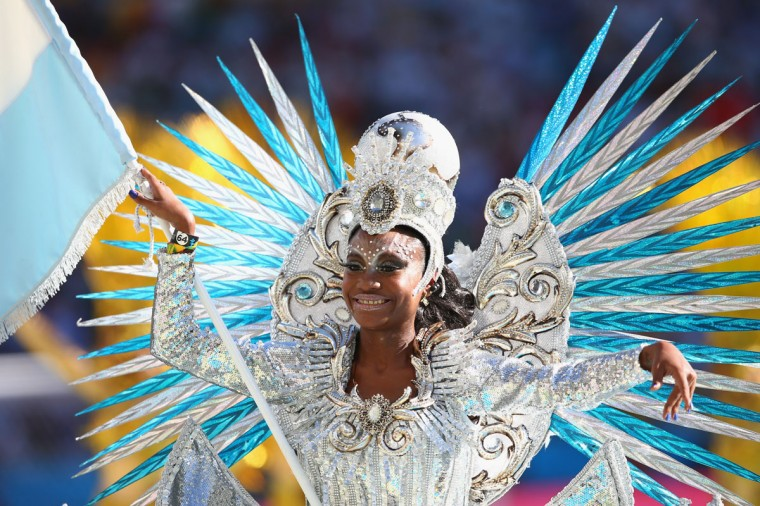 A dancer performs during the closing ceremony prior to the 2014 FIFA World Cup Brazil Final match between Germany and Argentina at Maracana on July 13, 2014 in Rio de Janeiro, Brazil. (Julian Finney/Getty Images)