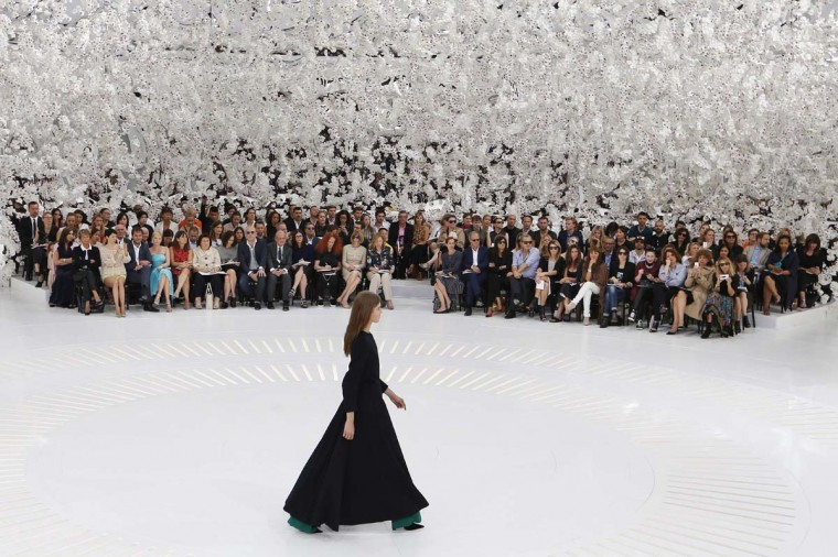 A model presents a creation for Christian Dior during the 2014/2015 Haute Couture Fall-Winter collection fashion show on July 7, 2014 in Paris.(Francois Guillo/AFP/Getty Images)