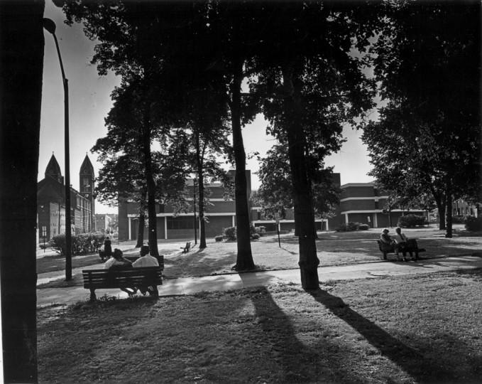 Union Square Park (Baltimore Sun photo/Dec. 7, 1969)