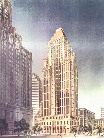 One Light Street, designed by John Burgee: The proposed replacement for the Old Southern Hotel.