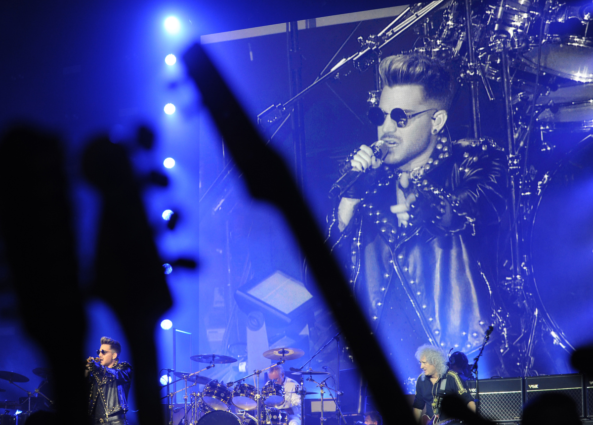 Adam Lambert and Queen rock Merriwe
