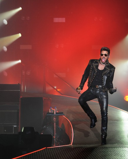The rock band Queen featuring lead singer Adam Lambert performs at the Merriweather Post Pavilion. (Algerina Perna/Baltimore Sun)