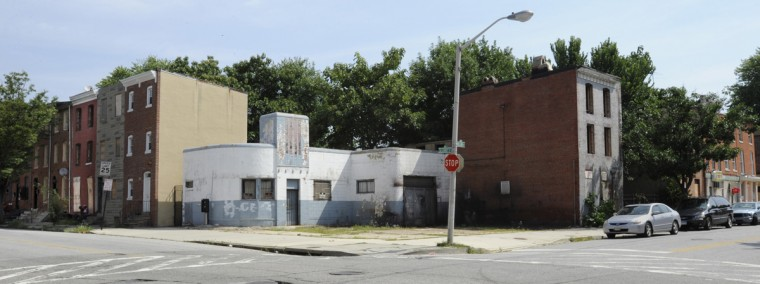 Hollins and S. Carey Streets are on the border of the Union Square area. (Jed Kirschbaum/The Baltimore Sun/Aug. 2011)