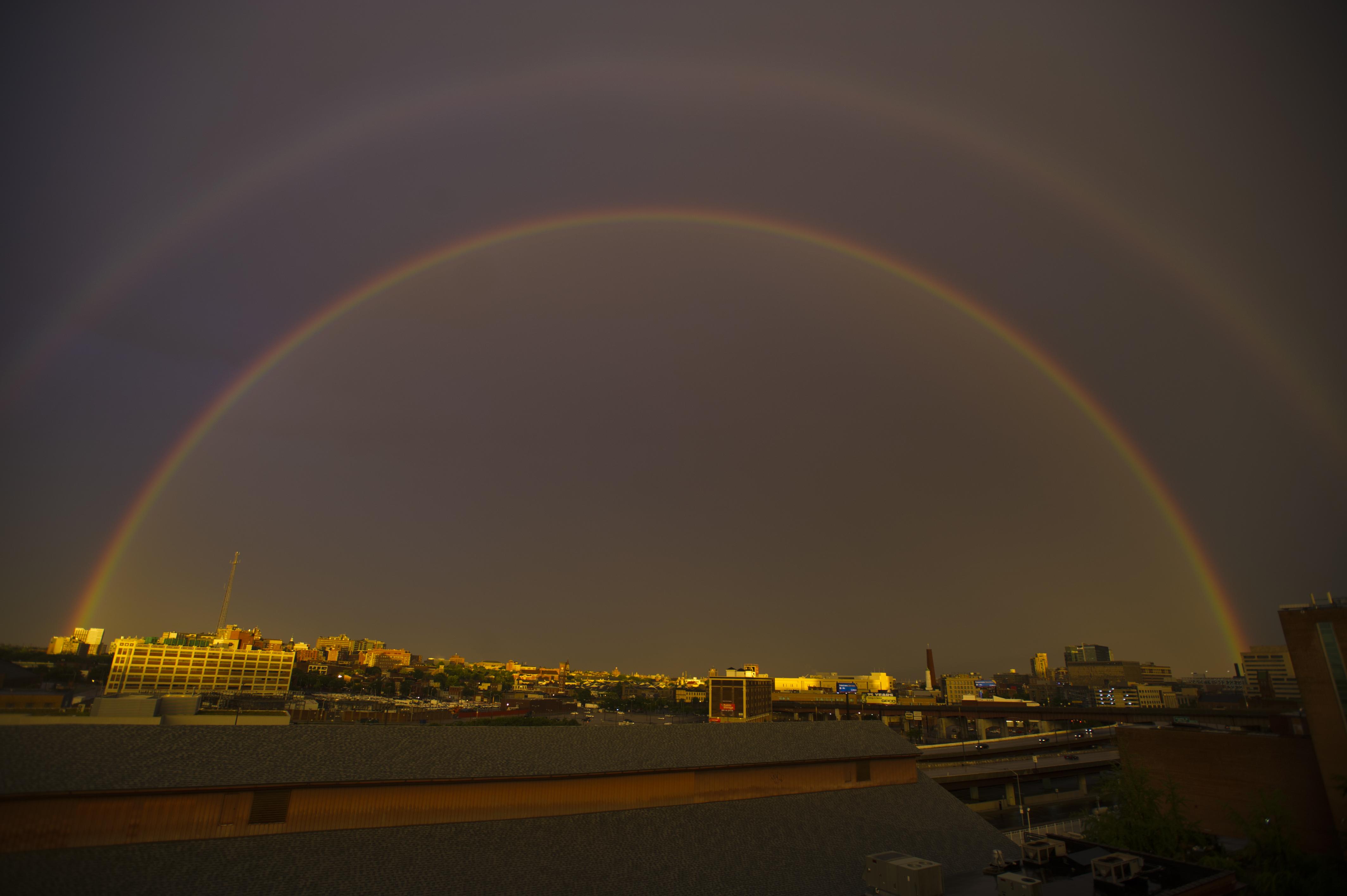 capturing rainbows around the world and in baltimore