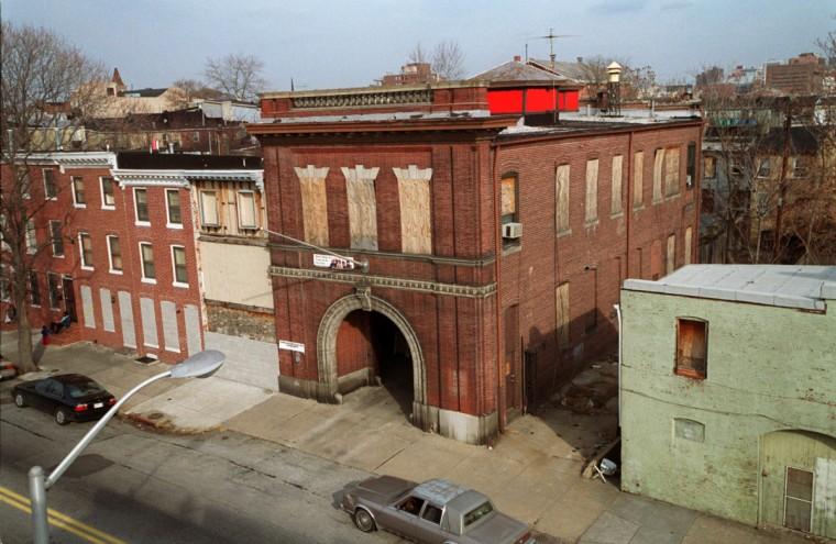 The historic firehouse on S. Carey St. (Kim Hairston/Baltimore Sun/Jan. 2002)