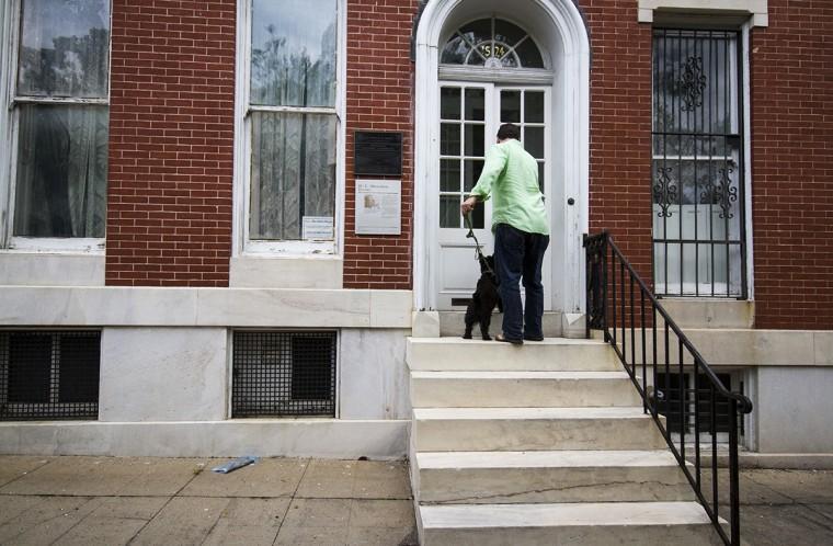 Outside the H.L. Mencken House in Union Square, facing south to Union Square Park. (Kalani Gordon/Baltimore Sun/2014)