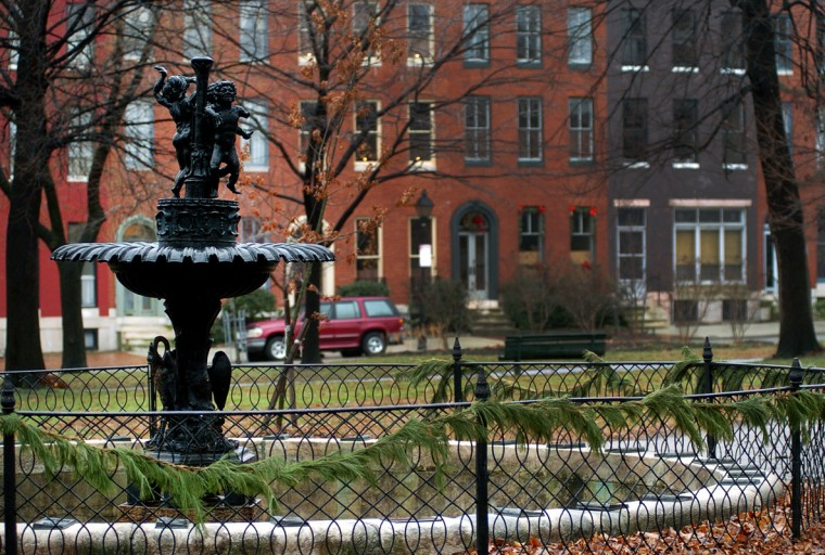 The fountain in Union Square. (Alerina Perna/Baltimore Sun file/Jan. 5, 2005)