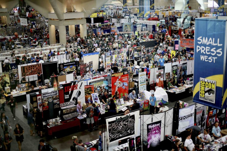 An overview of the trade floor during the 2014 Comic-Con International Convention in San Diego, California July 24, 2014. (Sandy Huffaker/Reuters)