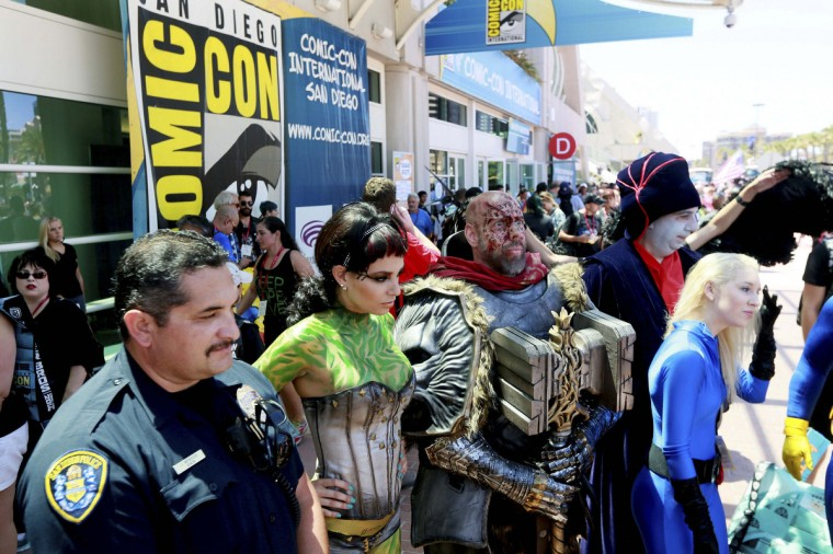 Costumed attendees pose during the 2014 Comic-Con International Convention in San Diego, California July 24, 2014. (Sandy Huffaker/Reuters)