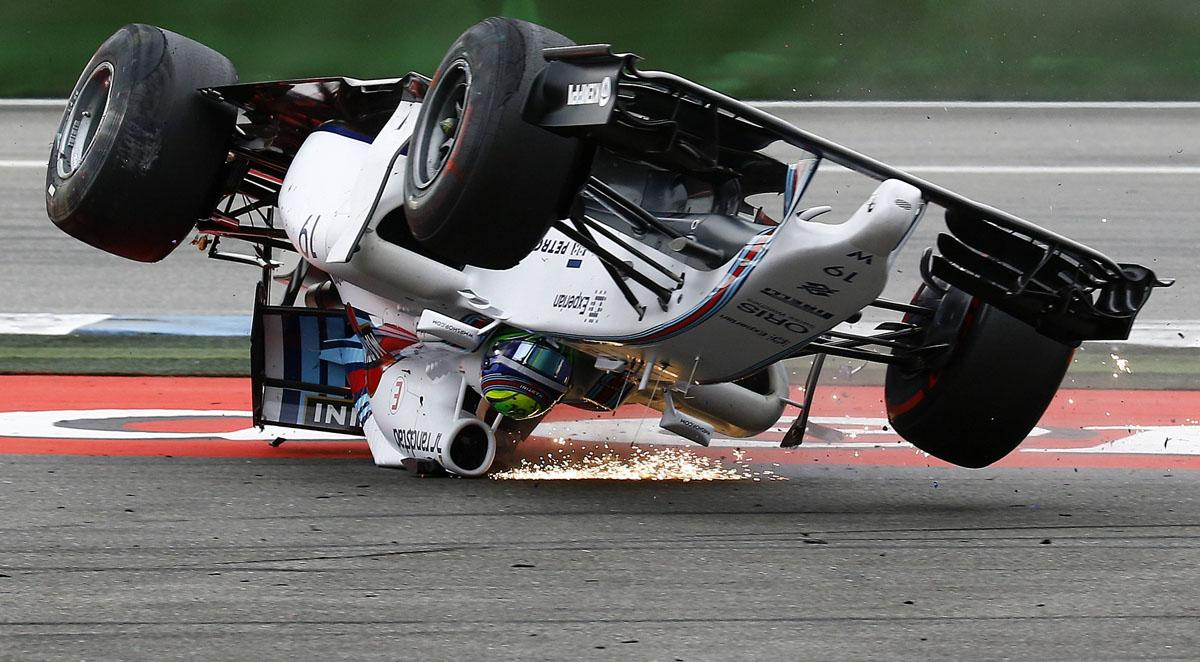 Williams Formula One driver Massa of Brazil crashes with ... Felipe Massa Instagram