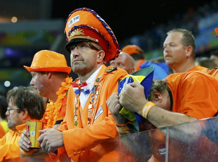 Netherlands' fans show dejection after the 2014 World Cup semi-finals against Argentina at the Corinthians arena in Sao Paulo July 9, 2014. (Darren Staples/Reuters)