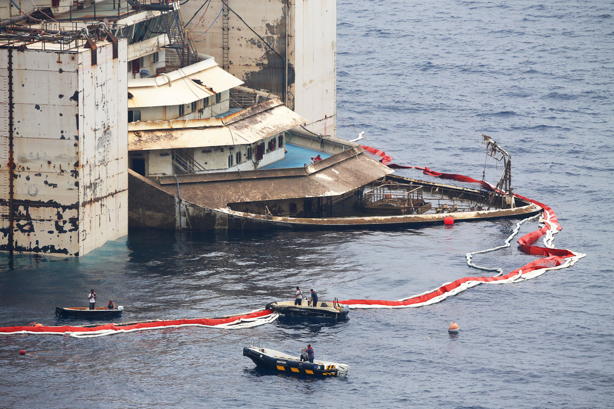 The Costa Concordia rises again