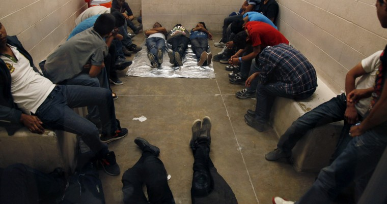 Inside the McAllen Border Patrol Station in McAllen, Texas July 15, 2014. (Rick Loomis//Reuters/Getty)