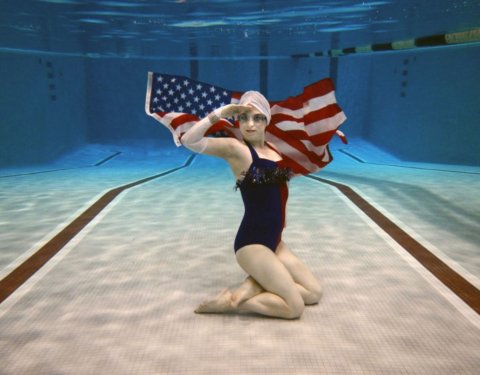 Fluid Movement's Star-Spangled Swimmer! A War of 1812 Water Ballet. (Photo by Zachariah Handler)